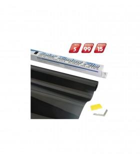 4CARS Fólia na okná Super Dark Black 0,75x3m Priepustnosť svetla 5%