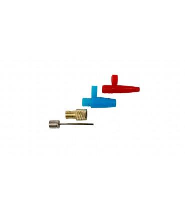 4CARS Hustilka nožná 2-piesty s tlakomerom