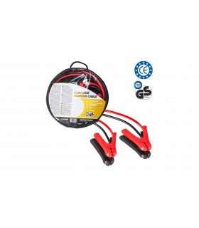 4 CARS Premium Štartovací kábel - DIN 72553 izolované kliešte, LED svetlo, ochrana pólov, hrúbka 16.0MM², 3metre