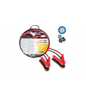 4 CARS Premium Štartovací kábel - DIN 72553 izolované kliešte, LED svetlo, ochrana pólov, hrúbka 25.0MM², 3,5metra