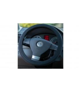 4CARS Poťah volantu elastický čierny