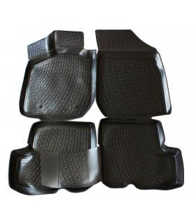 J&J Gumové rohože so zvýšeným okrajom Dacia Sandero 2008-2012 4ks